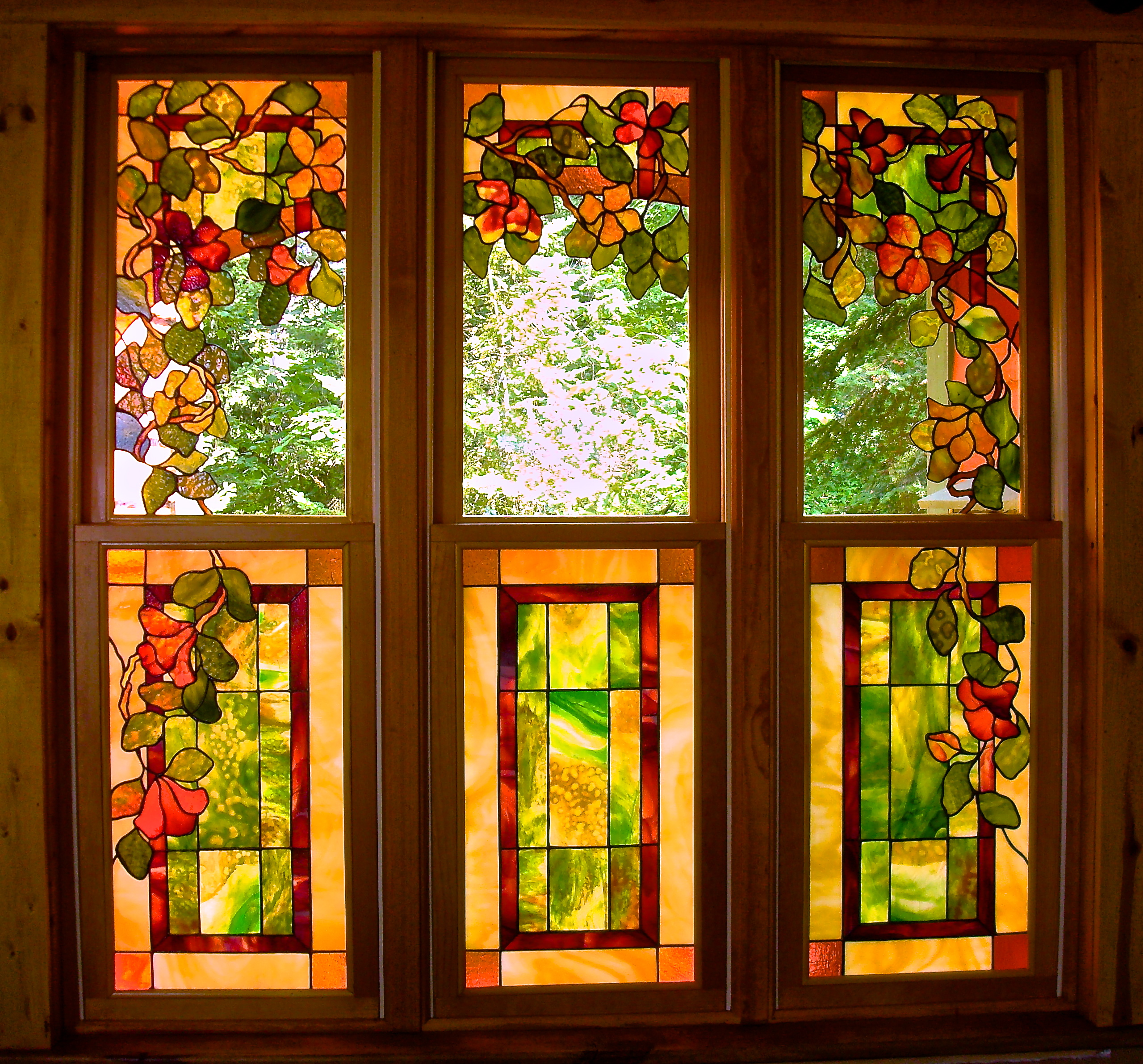 Stained Glass Window Art : Kit crawford stained glass original art